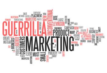 "Word Cloud ""Guerrilla Marketing"""