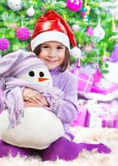 Little girl on Christmas celebration