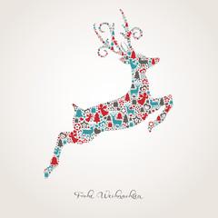 Rentier aus weihnachtlichen Motiven