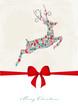 Springendes Reh aus weihnachtlichen Motiven