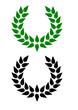 Lorbeerkranz grün und schwarz