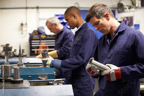 Busy Interior Of Engineering Workshop