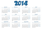simple editable vector calendar 2014