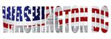 Washington DC Text Outline Capitol US Flag Vector Illustration - 56863667