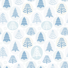 Background Christmas trees, vector illustration