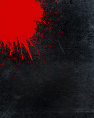 Splattered blood and grunge background