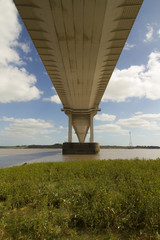 The Severn Bridge, suspension bridge connecting Wales with Engla