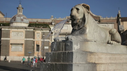 Lion shaped fountain, Rome