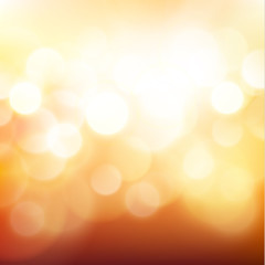 Golden defocused lights background - eps10