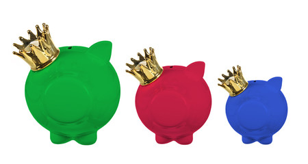 Piggy Banks with Crown