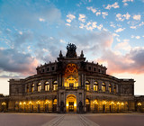 Dresden Opera Theatre in the evening