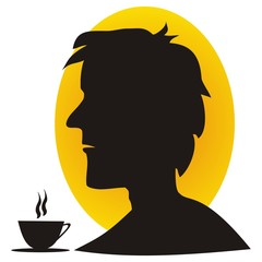 man and coffee