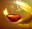 Beautiful illustration for happy diwali greeting card bright col