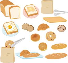 パン屋のいろいろなパン
