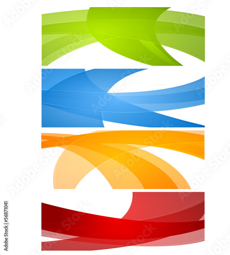 Bright waves vector banners