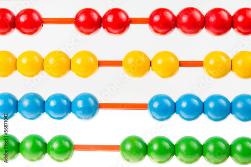 Abacus on isolated white