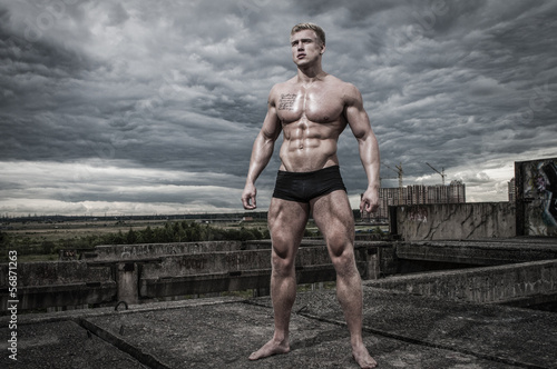 Male bodybuilder