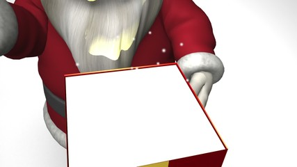 Santa Claus with magic giftbox
