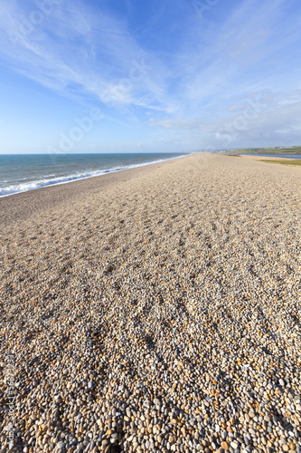 Chesil Beach in Portland, Dorset.