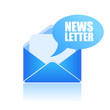 Vector newsletter symbol