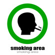 Vector smoking room symbol