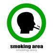 Vector smoking room symbol