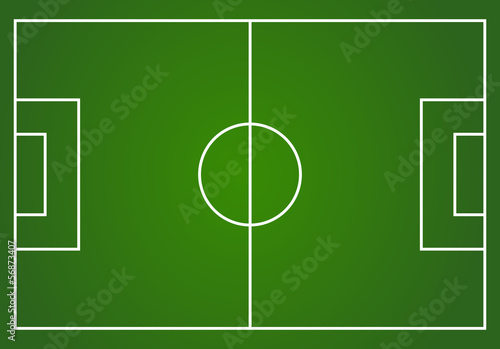 Vector football field layout