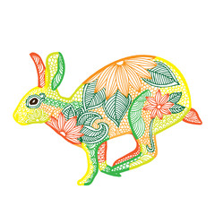 Rabbit illustration- Chinese zodiac