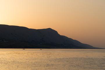 Sonnenuntergang am Berg von Pag