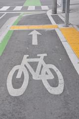 Bike route symbol