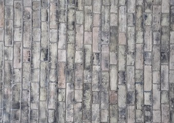 Old gray bricks texture