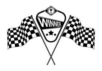 vector checkered race flags