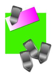 Büro, Bueroklammer, Plasik, Notiz, Nachricht, Papier