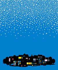 星降る街 ブルー