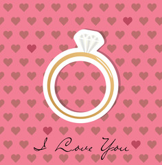 Engagement ring - vector illustration