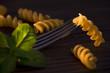 Fusilli, italian raw pasta