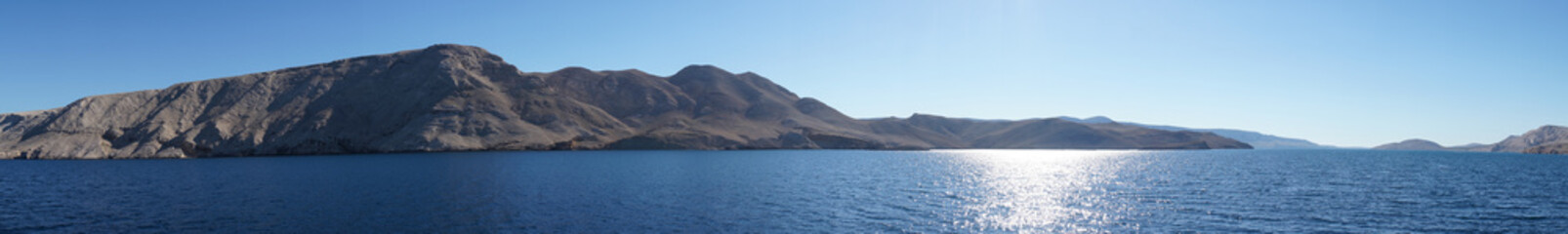 Küsten Panorama Insel Pag