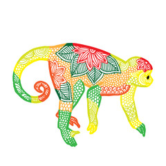 Monkey illustration- Chinese zodiac
