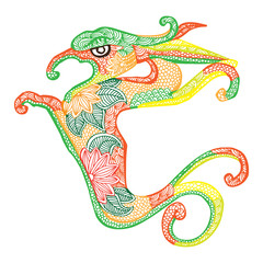Dragon illustration- Chinese zodiac