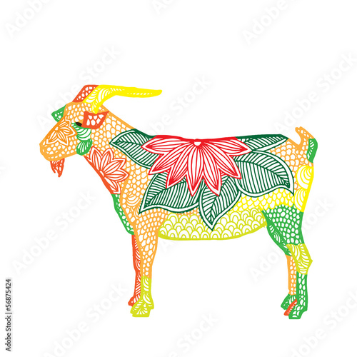 Goat illustration- Chinese zodiac