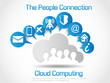 CLOUD COMPUTING WORLD PEOPLE CONNETTING WHITE