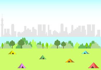 都会のキャンプ場