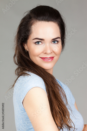 Beauty portrait of smiling woman