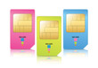 Colored Sim Card Set