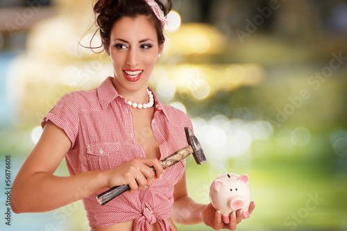 Mädchen will Geld ausgeben