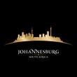 Johannesburg South Africa city skyline silhouette black backgrou