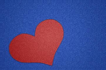 Liebe, Herz, Jeans, Aufnäher