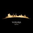 Samara Russia city skyline silhouette black background