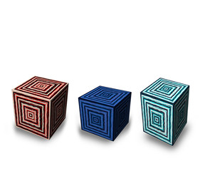 cubi di diverso formato e colore