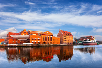 Former granary and the Baltic Philharmonic in Gdansk, Poland.